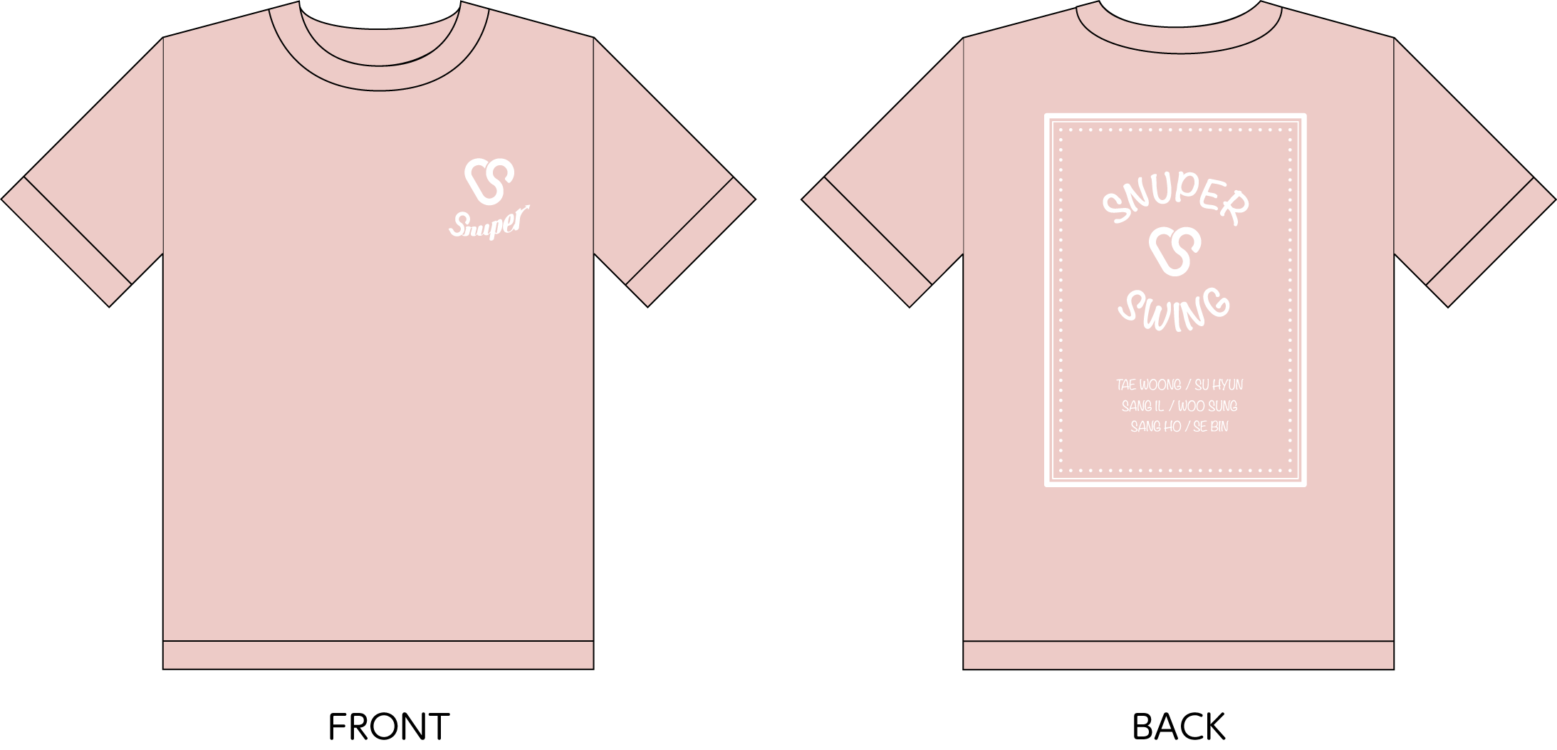 SNUPER 2016 1st SHOWCASE in JAPAN Tシャツ