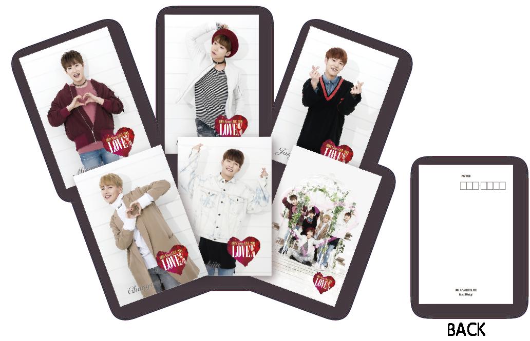 """100% Xmas LIVE 2016 """"LOVE%"""" ポストカード"""