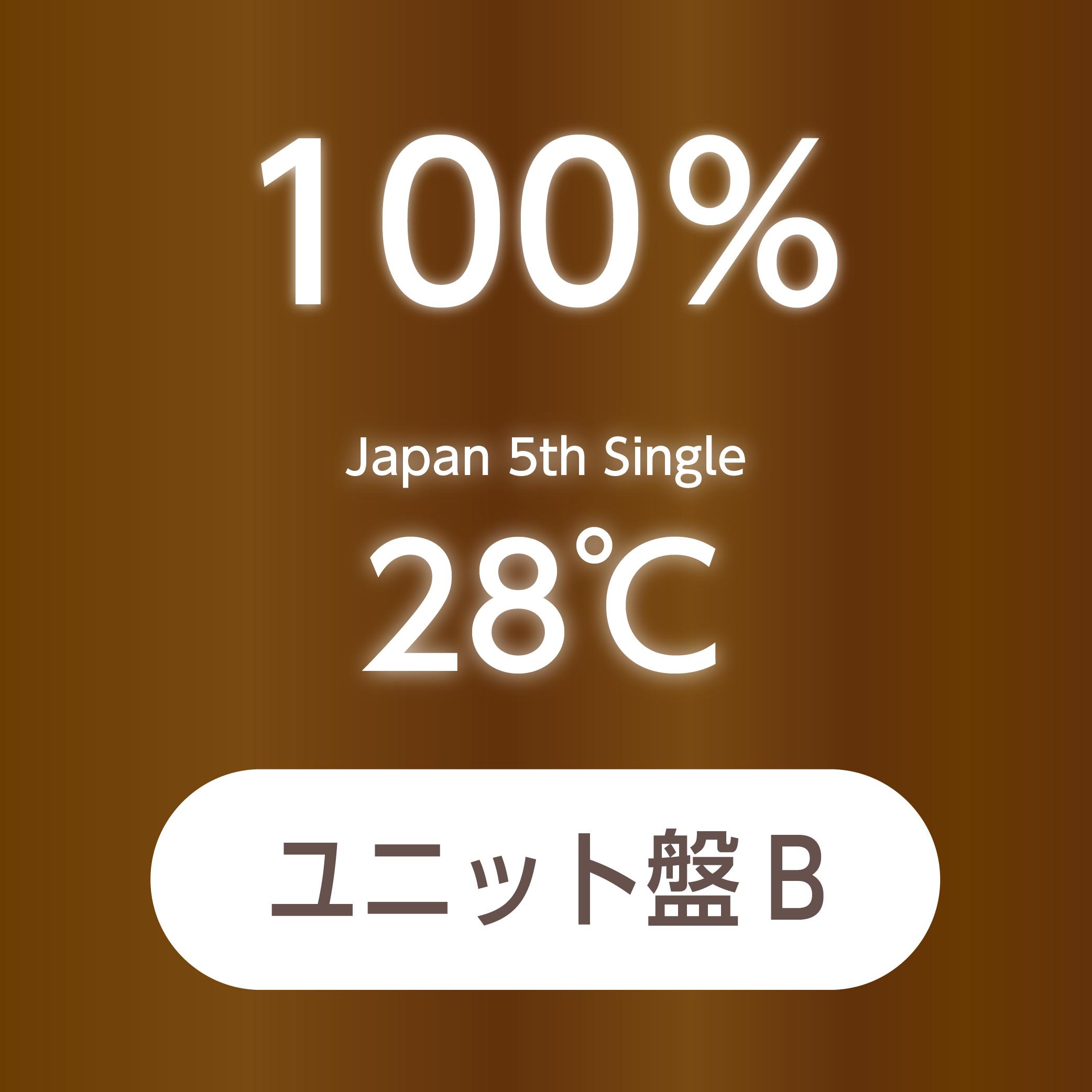 100% Japan 5th Single『28℃』ユニット盤B【予約(クレジット決済のみ)】