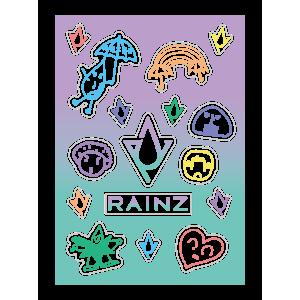 【RAINZ オフィシャルグッズ】クリアステッカー