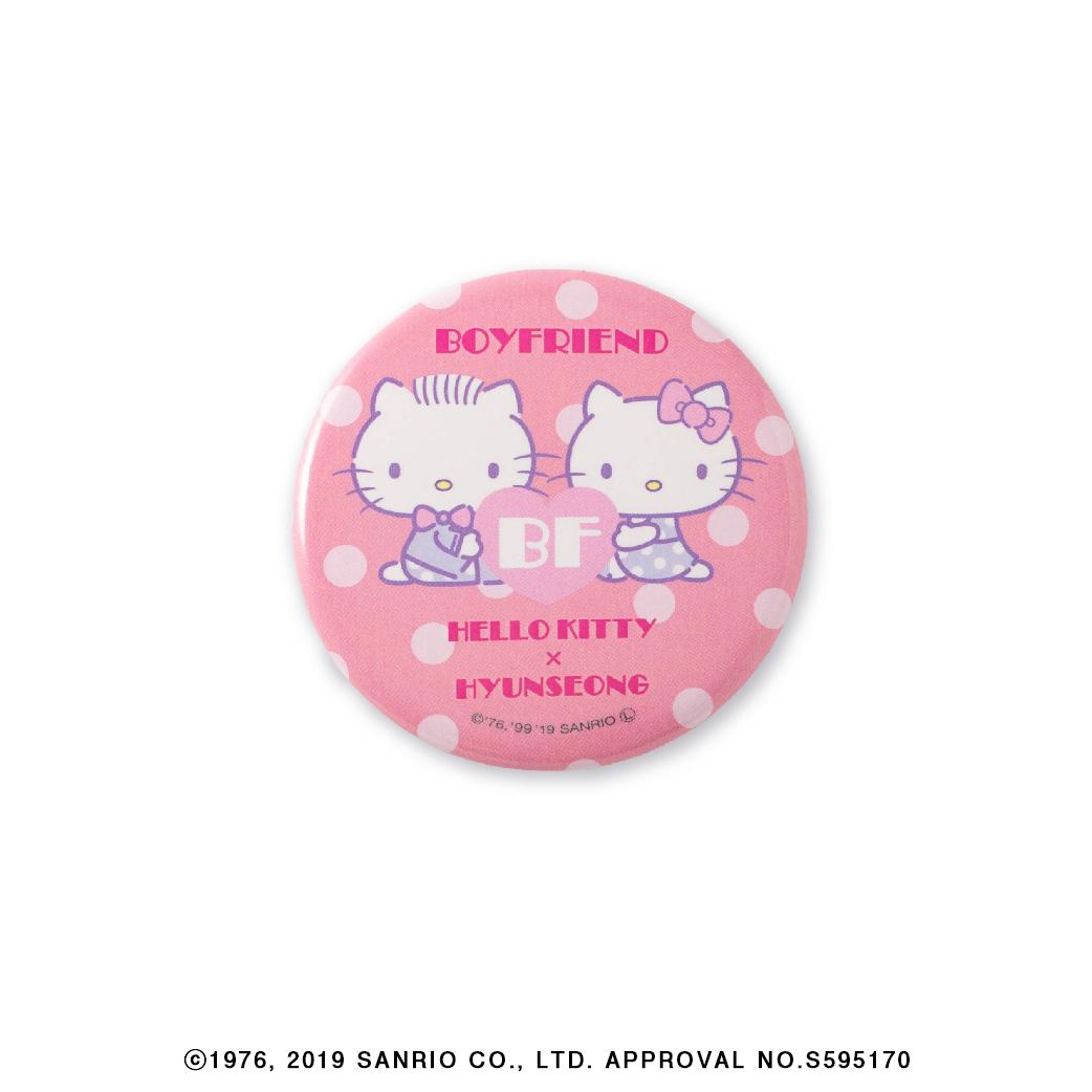 HELLO KITTY × BOYFRIEND コラボレーション 第1弾 缶バッチ(全6種/ランダム)